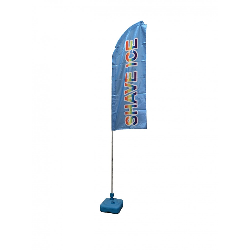 Shave Ice Feather Flag and Stand