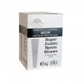 Shave Ice Neon Spoon Straws (400pcs)