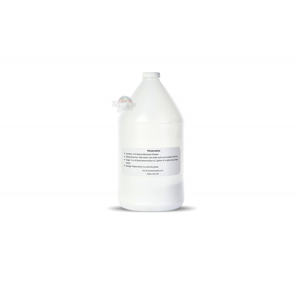 Shaved Ice Syrup Preservative (1 gallon)