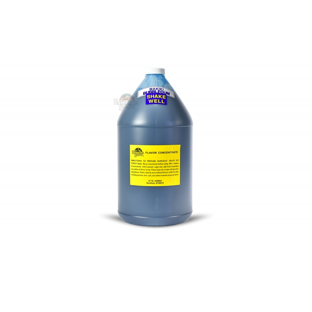 Shaved Ice Syrup Standard Concentrate - 128 oz