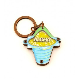 Shave Ice Flower Cup Key Chain